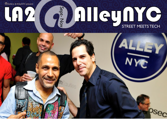 Partnering with midtown coworking space, AlleyNYC, @Gallery installed the largest collection of works by LA2 every gathered in one space. Alley members partied with the artist, and lived amongst the 60+ artworks for three months.